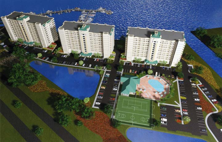 Overview of Harbor Pointe Condominiums in Titusville, Florida